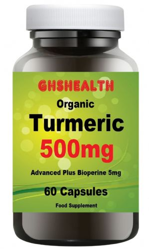 Turmeric 500mg 60 Capsules with bioperine (black pepper for better absorption)